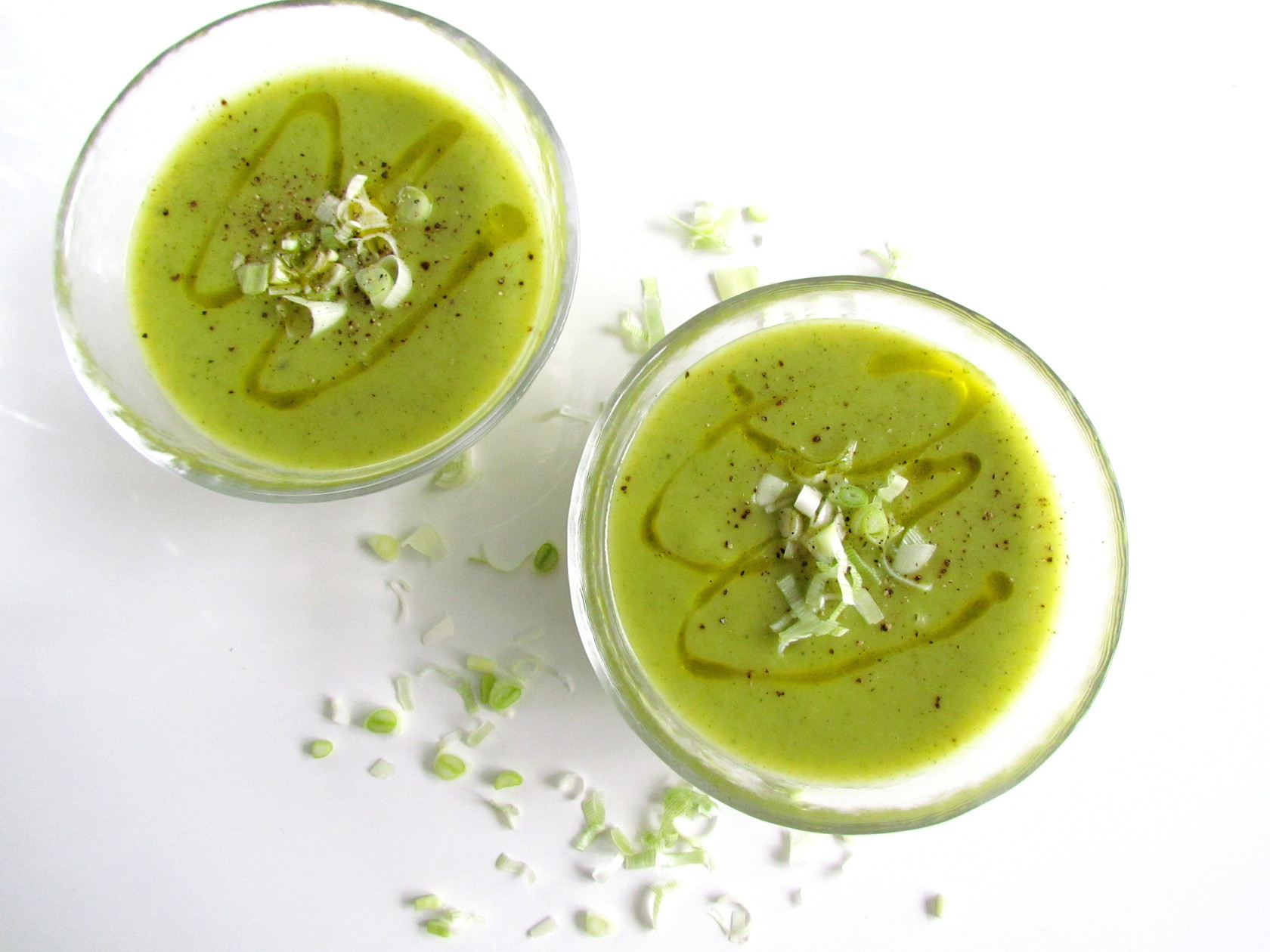 soupe de courgettes et poireaux | Savormania