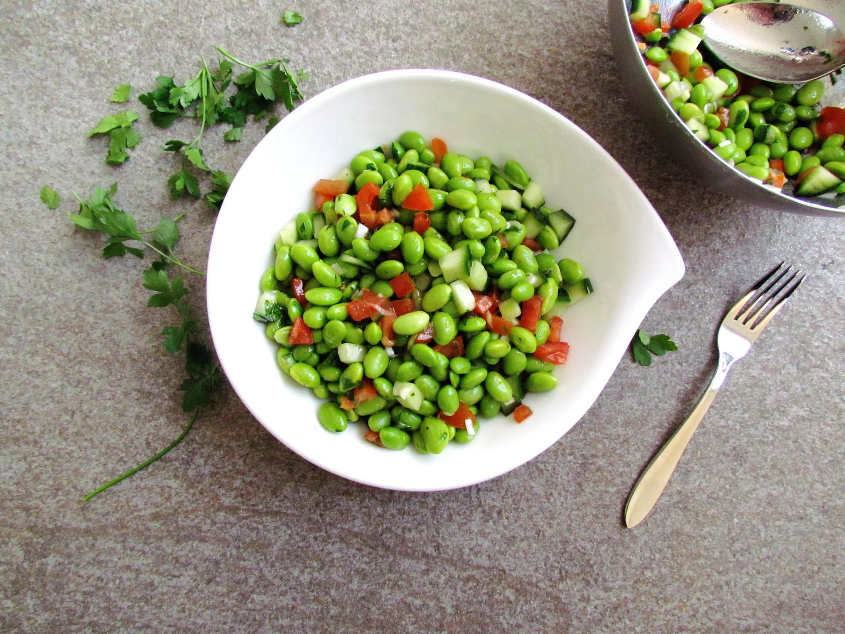 salade d'edamame épicée au cumin | www.savormania.com