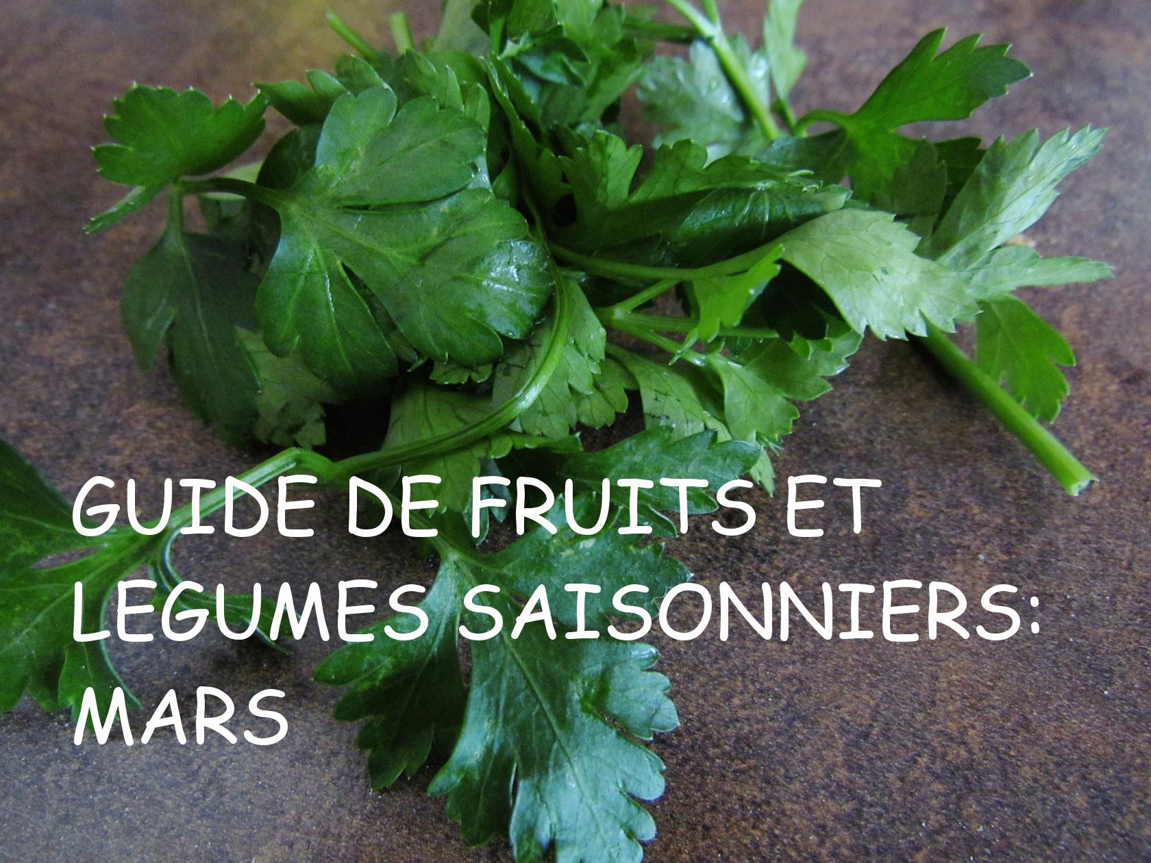 guide de fruits et légumes saisonniers: mars | www.savormania.com