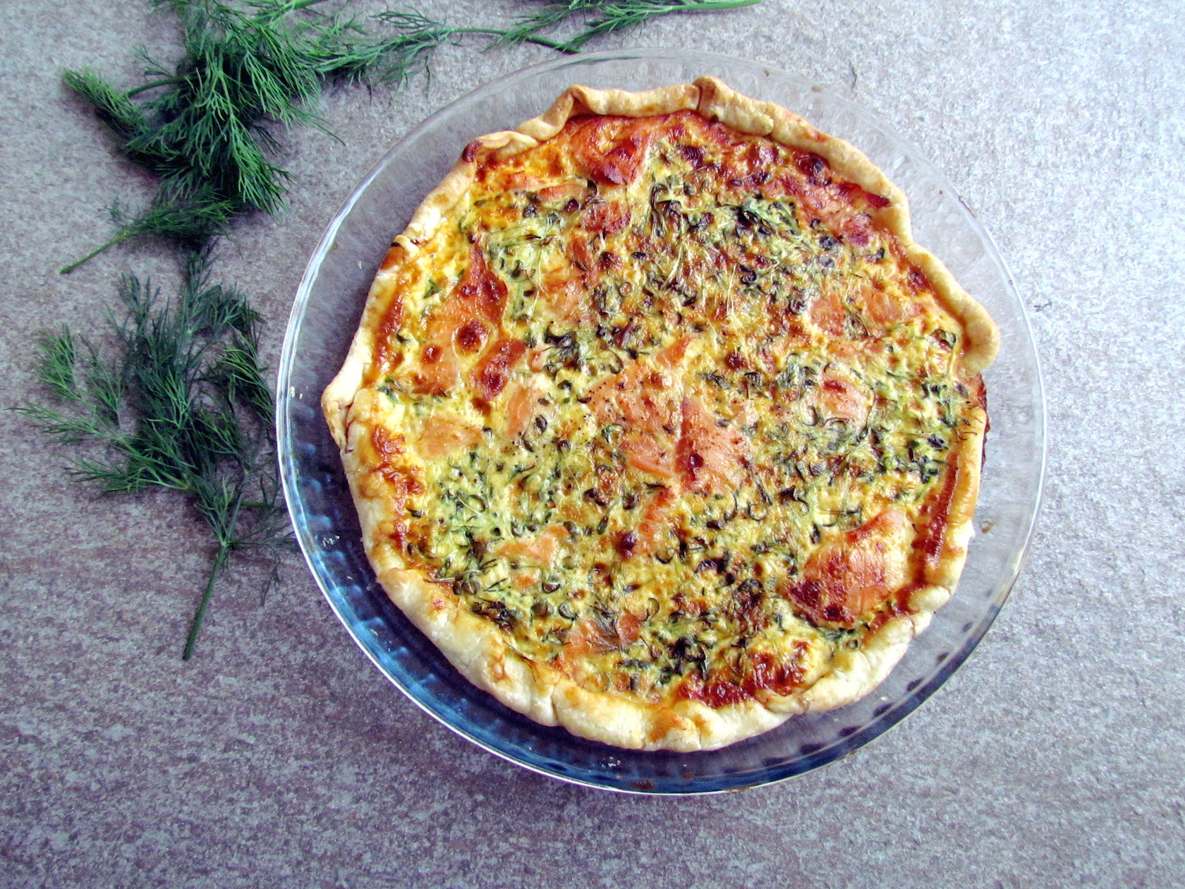 smoked salmon and watercress quiche | Savormania