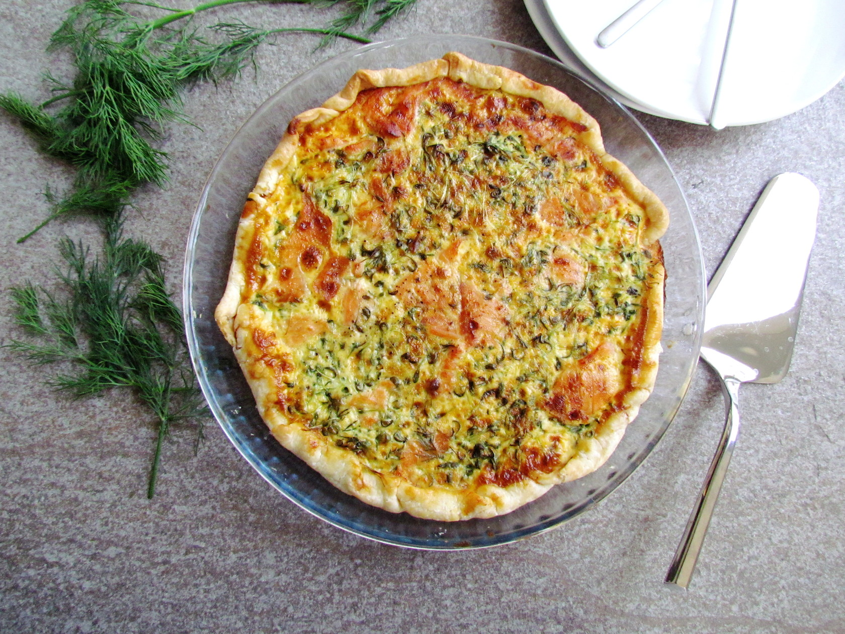 salmon and watercress tart salmon watercress quiche salmon watercress ...