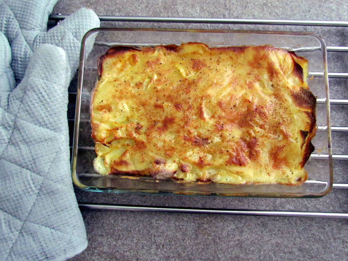 recipe gratin de pommes de terre sans lactose. Black Bedroom Furniture Sets. Home Design Ideas