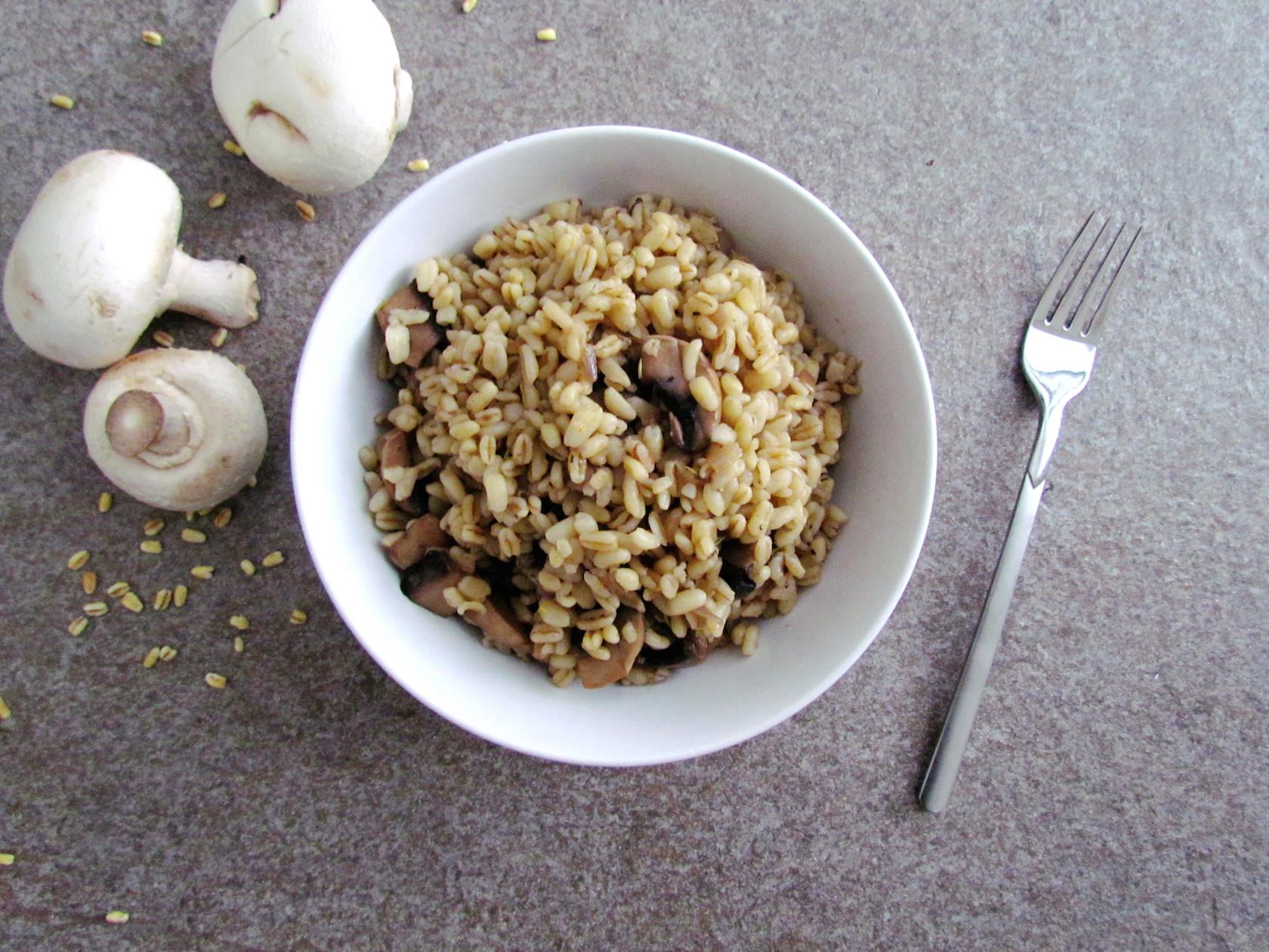 blé sauté aux champignons | www.savormania.com