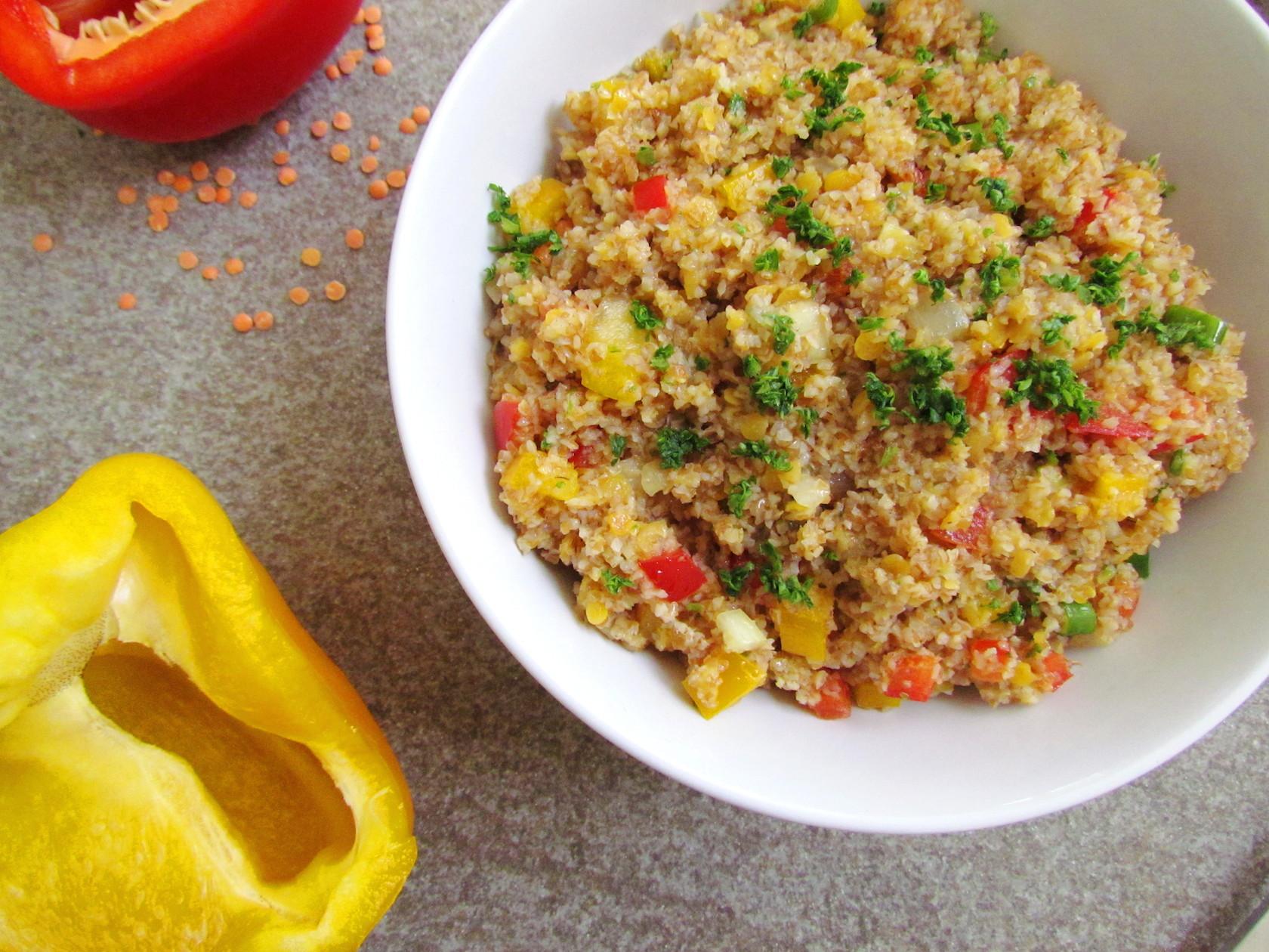 salade de boulgour et lentilles rouges – savormania