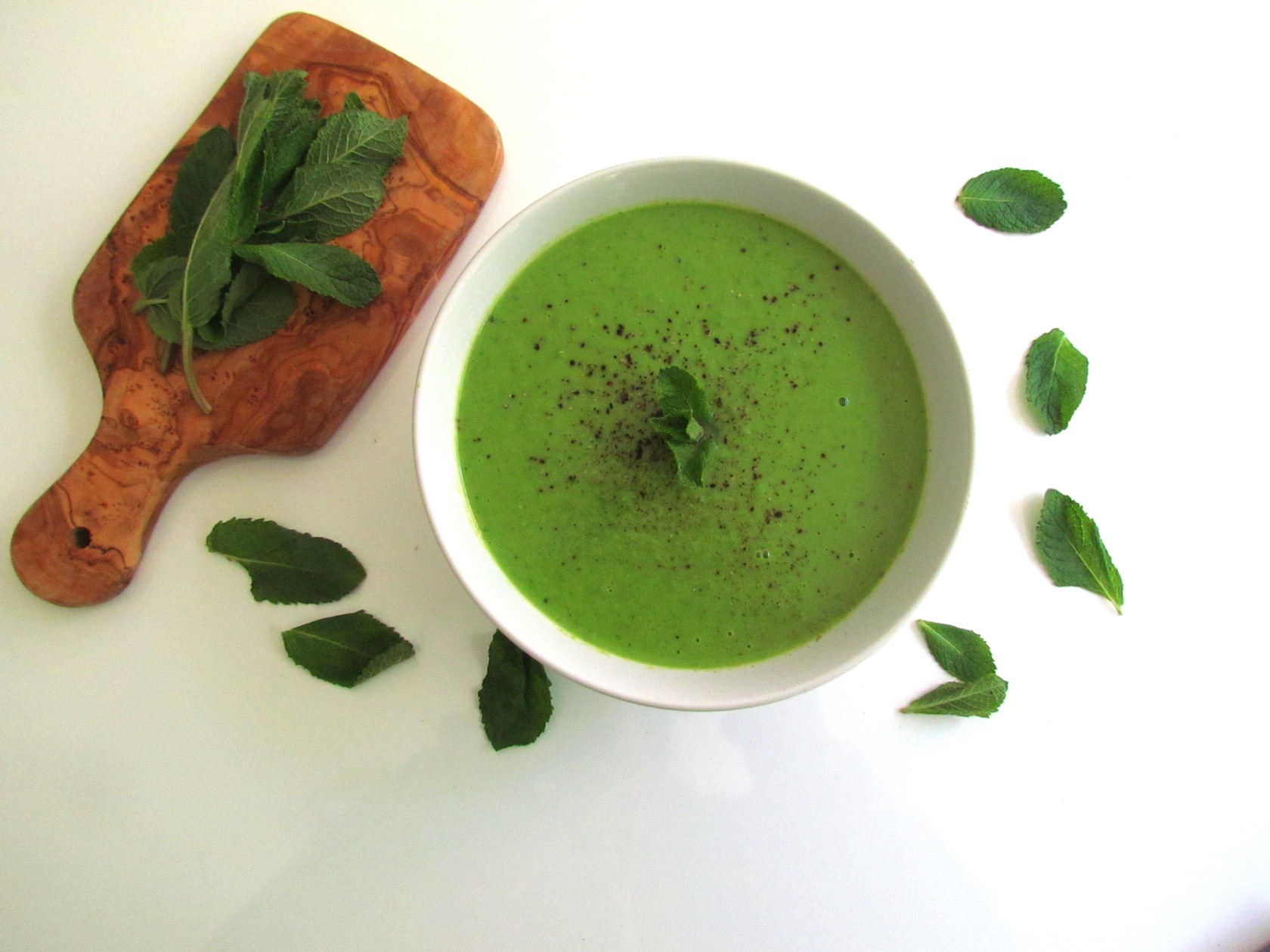 mint pea soup – Savormania