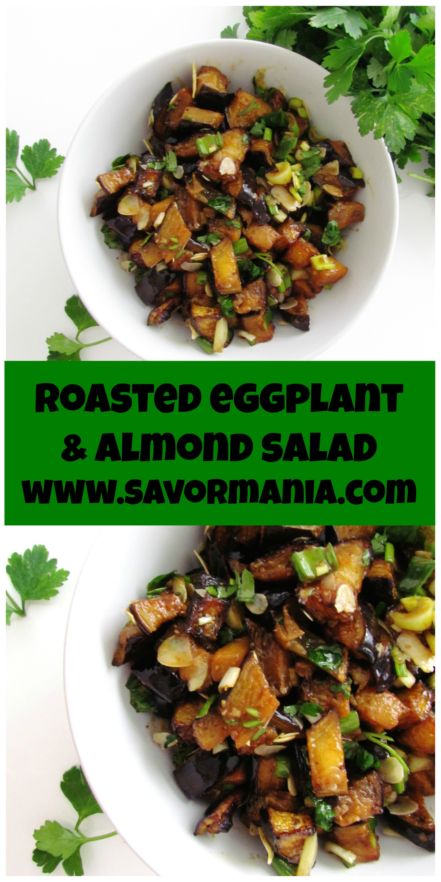 Roasted Eggplant Salad With Smoked Almonds & Goat Cheese Recipes ...