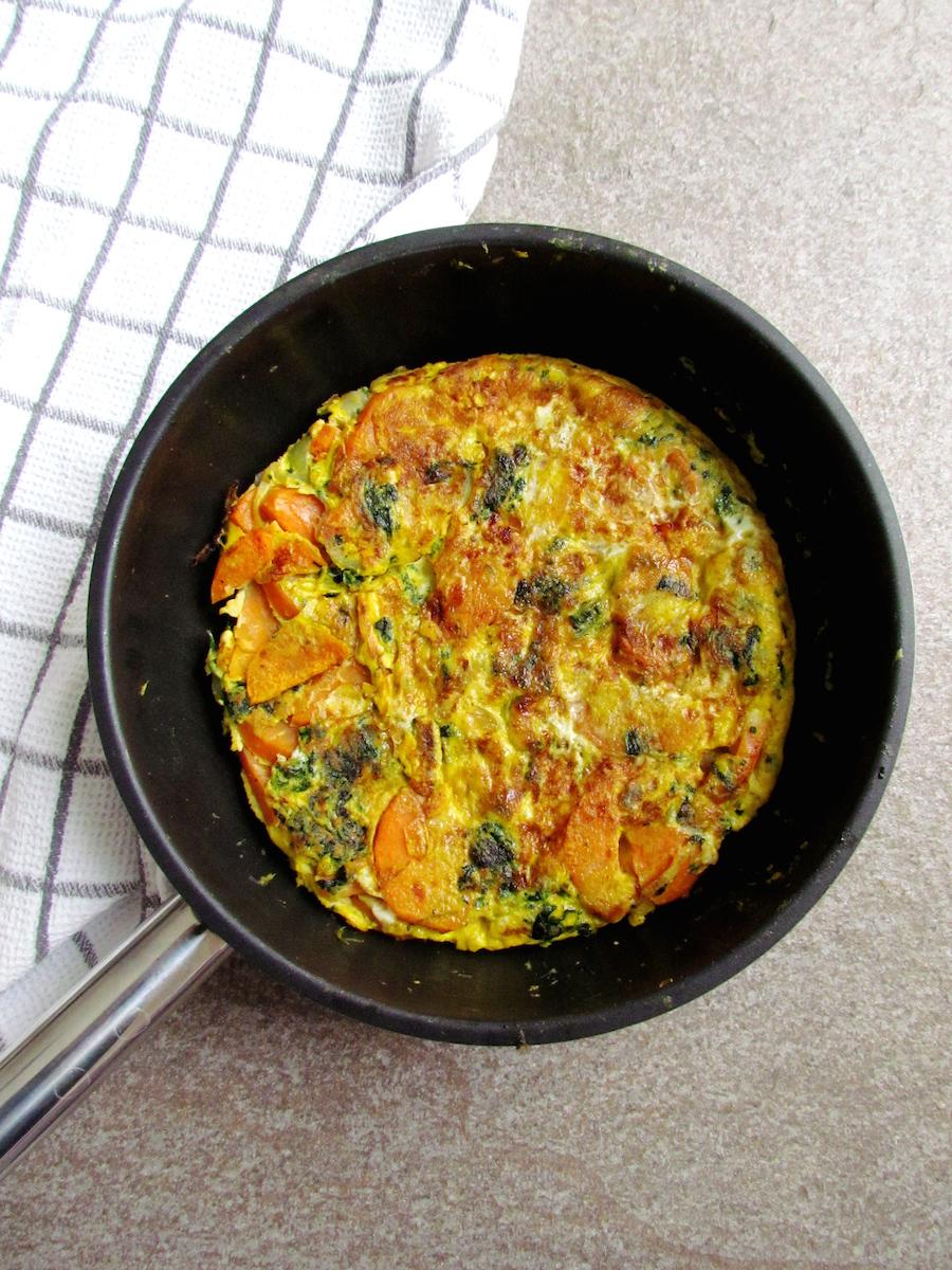 sweet potato and spinach tortilla | Savormania
